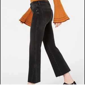Free People || Rita Raw-Edge Cropped Flare Jeans